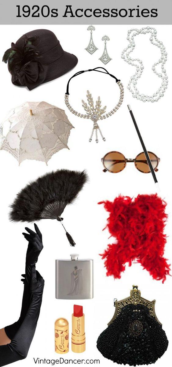 1920s Accessories Stockings Hats Headbands Jewelry In 2020 1920s Accessories 1920s Fashion Women 1920s Fashion