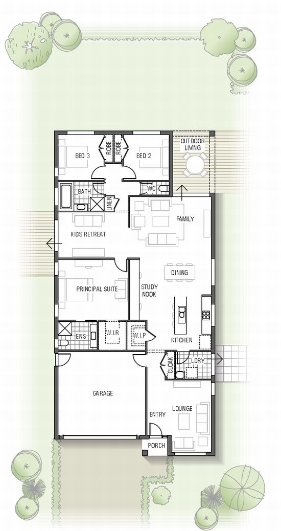 Foyer Plan Kitchen : Delete the lounge room kids retreat and garage have