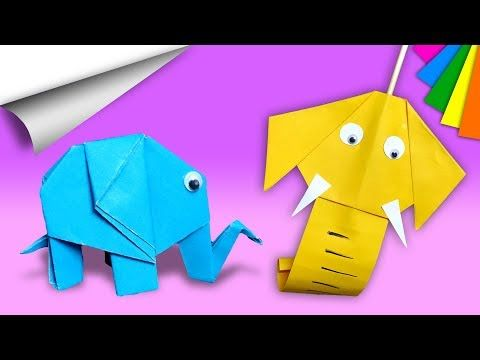 Origami Elephant Tutorial - Paper Kawaii - YouTube | 360x480