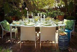 Don't be afraid to set up a fine dining experience outdoors, you're guest will love it.