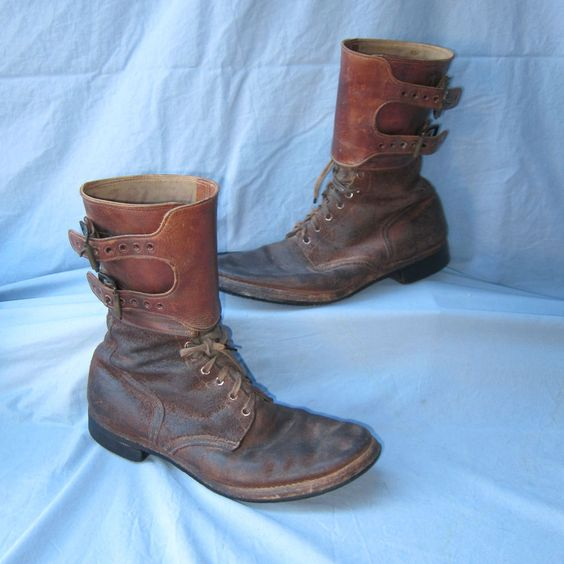 "U.s ww ii m-1943 ""double buckle combat boots size- 11 1/2- d ..."
