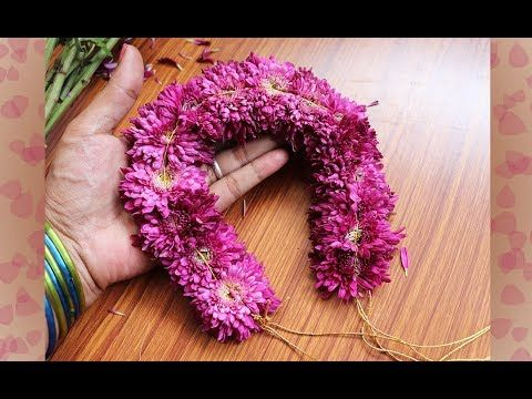 Chrysanthemum Flower Jadai Veni In 5 Minutes Fresh Flower Jadai Veni Making Step By Step Youtube Chrysanthemum Flower Indian Jewelry Fresh Flowers