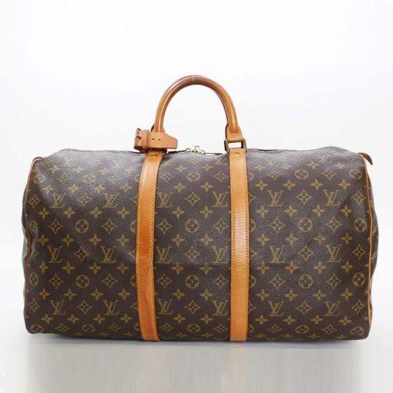 Louis Vuitton Keepall 50 Monogram Luggage Brown Canvas M41426