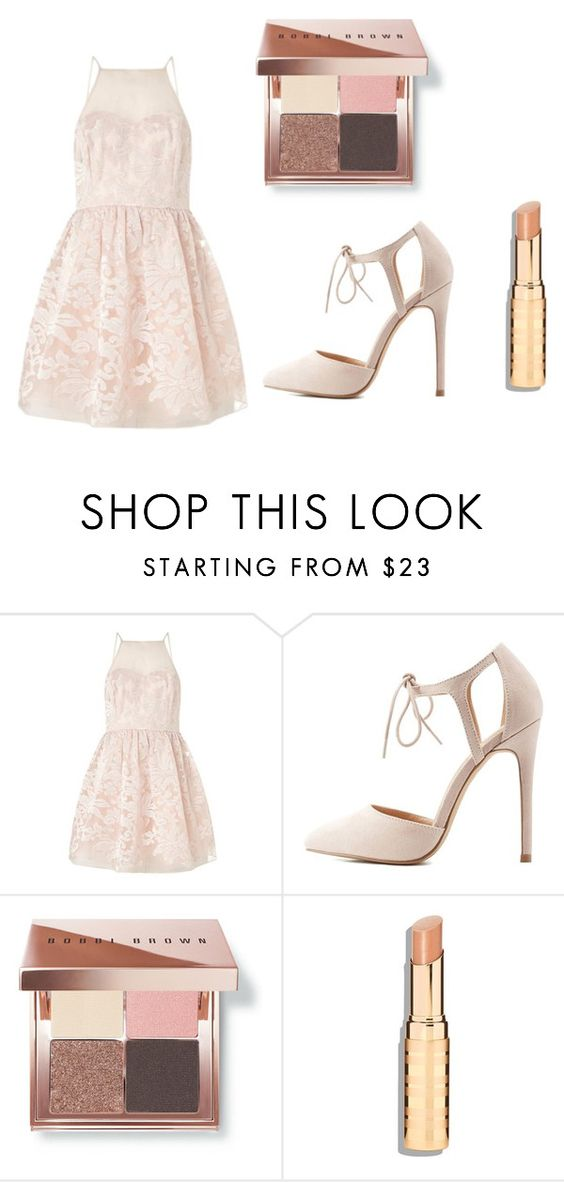 """Untitled #478"" by asiannaye on Polyvore featuring Lipsy, Charlotte Russe and Bobbi Brown Cosmetics"
