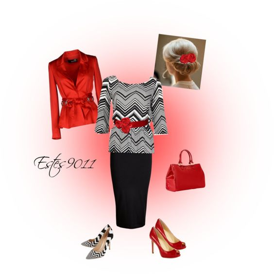"""""""Chevron Color Pop"""" by estes9011 on Polyvore. With the red shoes."""