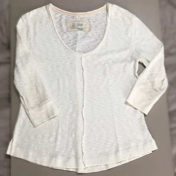 Anthropologie Days of the week raw edge Terry Top Size S Anthropologie Tops Tees - Long Sleeve