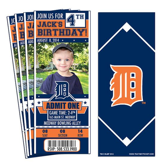 Hey, I found this really awesome Etsy listing at https://www.etsy.com/listing/205675045/12-detroit-tigers-birthday-party-ticket