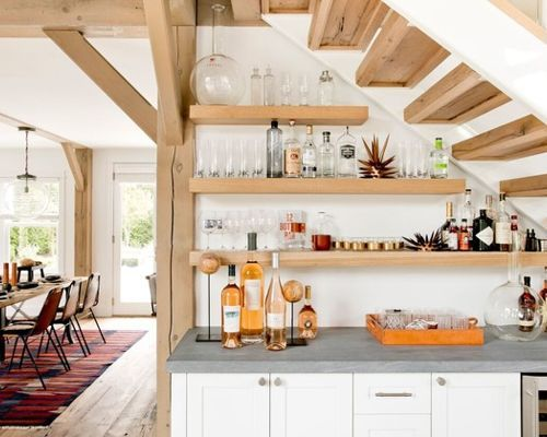 25 Ways To Make Use Of The Space Under Stairs Kitchen Under Stairs Bars For Home Kitchen Bar Design