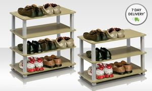 Groupon - Furinno 3- or 4-Tier Shoe Rack. Multiple Styles from $ 22.99—$27.99. Free Shipping and Returns. in Online Deal. Groupon deal price: $0.23