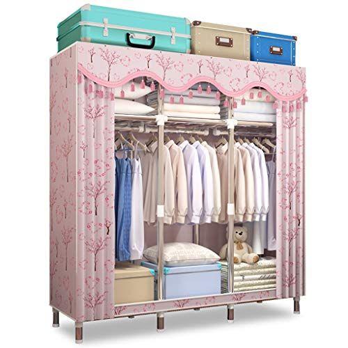 Xiao Jian Cloth Wardrobe Assembly Storage Clothes Closet Double Hanger Coat Rack Locker Wardrobe Closet Clothes Storage Portable Closet Clothes Closet