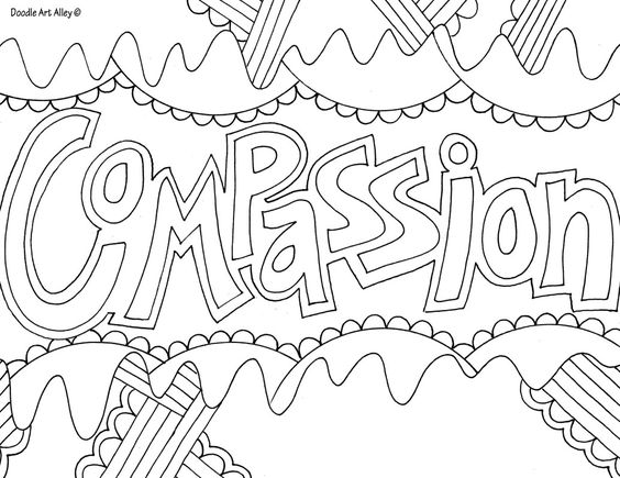 abstract coloring pages with words | words & quotes coloring pages | Crafty Kids. | Pinterest ...
