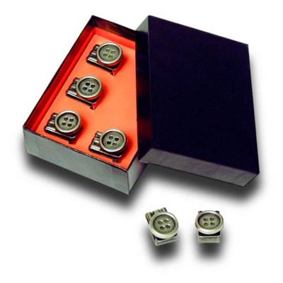 Albert Thurston Clip-on Buttons to allow proper leather braces to be fitted to any pair of pants. $19.95