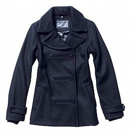 this coat has a nice texture, in the ribbing on the collar