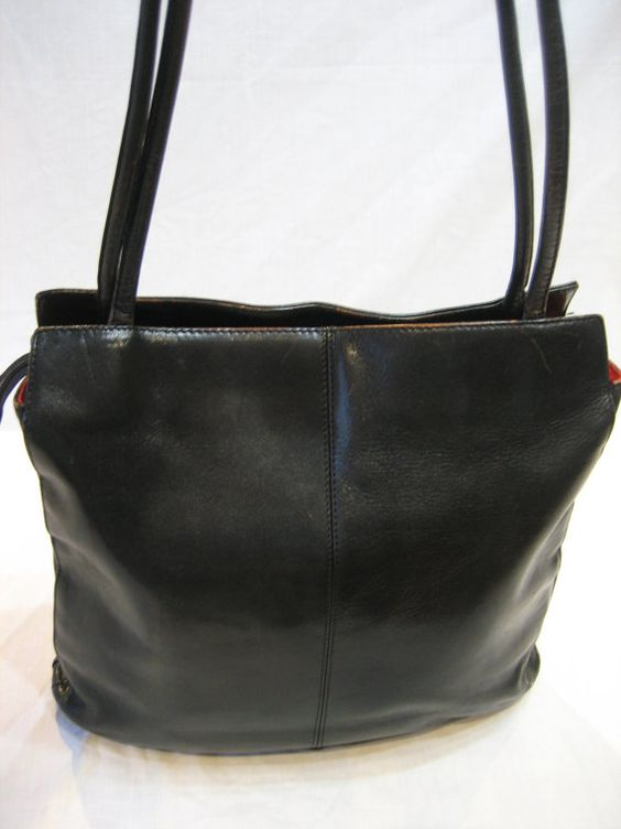 HOBO International Black Polished Leather Tote by CLASSYBAG