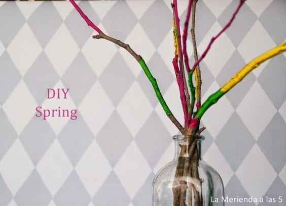 DIY: Decora con ramas. Decoración primavera.