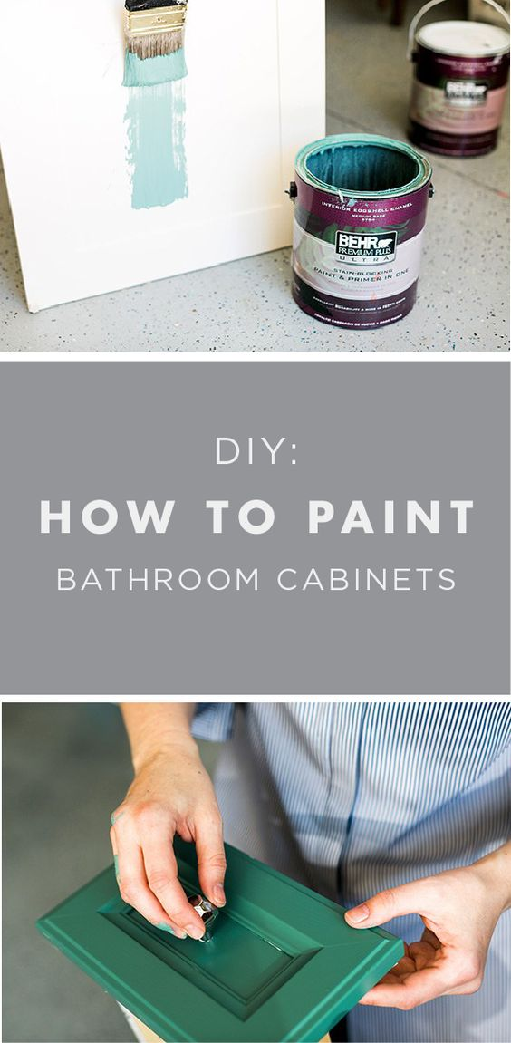 Diy How To Paint Bathroom Cabinets Like A Pro