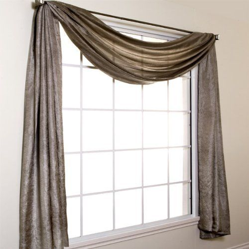 Silkanza 216 Long Crushed Semi Sheer Voile Scarf Window Valance By Softline By Softline Home