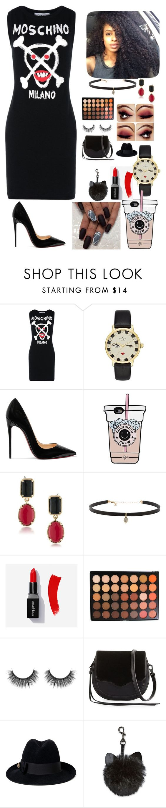 """""""....Bam"""" by rider4life12 ❤ liked on Polyvore featuring Moschino, Kate Spade, Christian Louboutin, 1st & Gorgeous by Carolee, Carbon & Hyde, Morphe, Rebecca Minkoff and Gucci"""