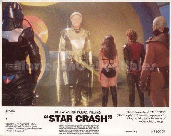 Star Crash 8x10 Lobby Card Nadia Cassini, Christopher Plummer