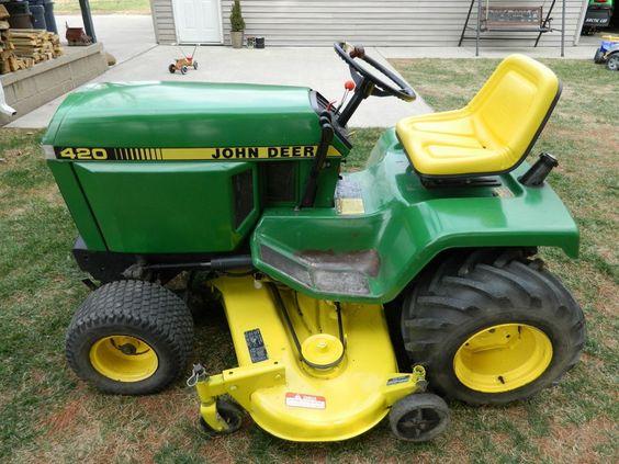 John Deere 420 Garden Tractor John Deere Pinterest Gardens John Deere And