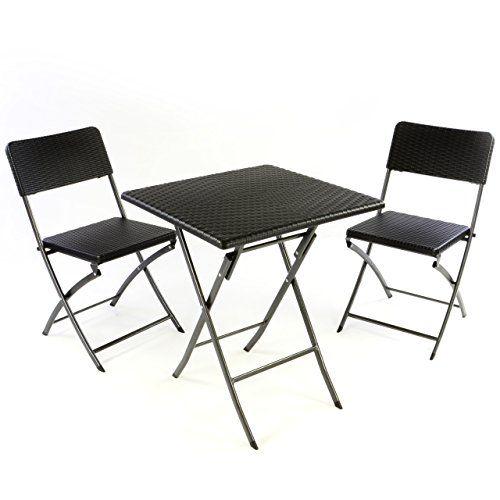 Nexos 3er Set Garnitur Tischset Mit 2 Stuhlen 1 Tisch Balkonset In