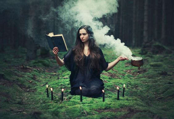 A witch and her magick; I love this picture, please check out this girl's art!: