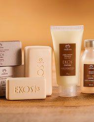 Conjunto Miniaturas Ekos Cacau - Shampoo + Condicionador + Sabonete + Hidratante Corporal #Natura #dicas #Hidratante