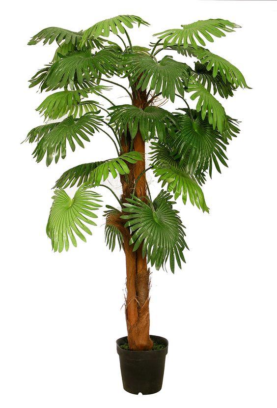 Fächerpalme 1,80 m Kunstpalme Kunstpflanze Kunstbaum Deko künstliche Palme