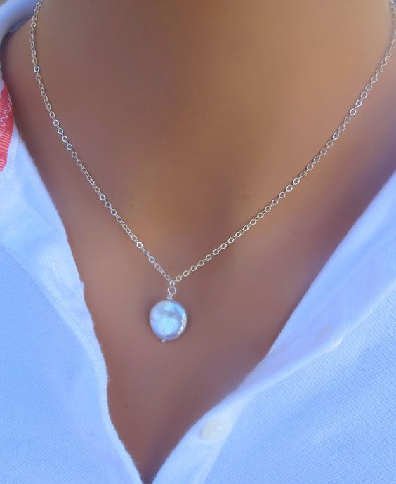 Coin freshwater pearl