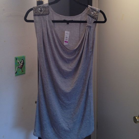 The Addison Story sleeveless top New with tag embellished shoulder sleeveless top Tops