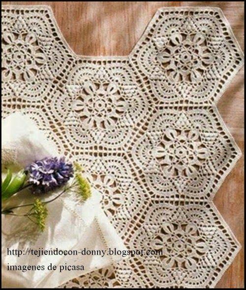 Crochet ganchillo patrones graficos colchas o - Colchas a ganchillo muestras ...