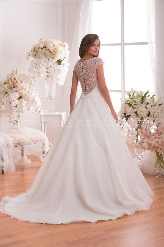 Style * F171010 * » Wedding Dresses » Jasmine 2015 Spring Collection » by Jasmine Bridal » Available Colours : Ivory, White (back)