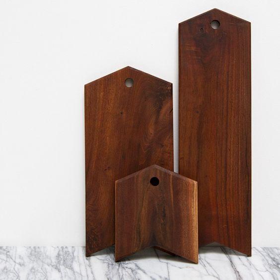 Image of walnut serving board | arrow | large