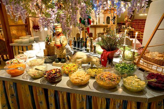 #Salatbuffet beim Heringsschmaus #Glocknerhof www.glocknerhof.at