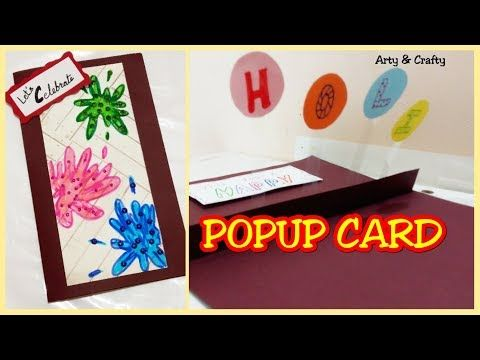 How To Make Holi Card 2019 Handmade Holi Popup Card Easy Holi
