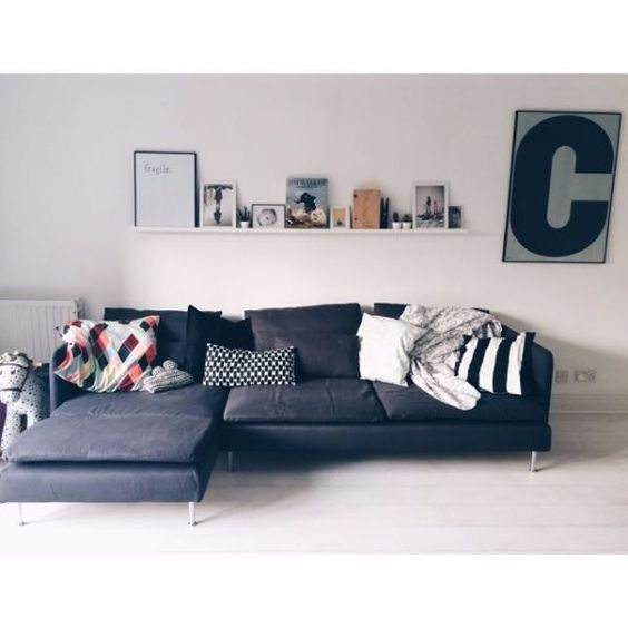 Ikea soderhamn modular sofa in dark grey 3 seater no for Canape ikea soderhamn