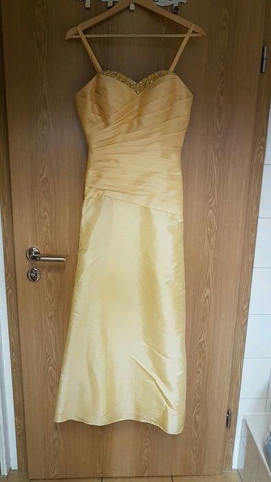 Damen Kleid / Festkleid / Ballkleid Sonnengelb Größe 40