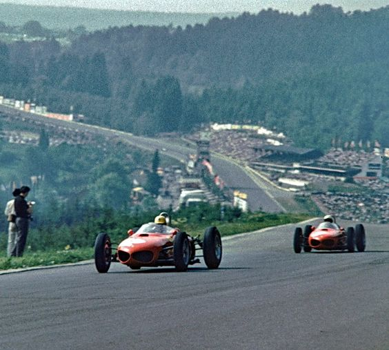 Sharknose Ferraris at Spa