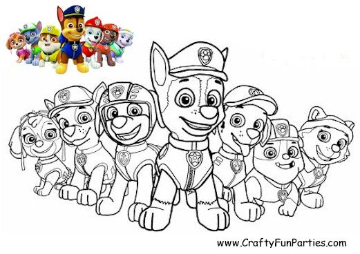 Color The Paw Patrol Paw Patrol Coloring Paw Patrol Coloring Pages Unicorn Coloring Pages
