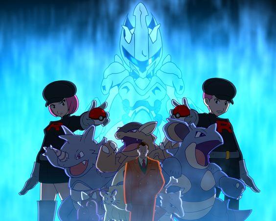 Giovanni, his gym pokemon, Team Rocket, and Mewtwo