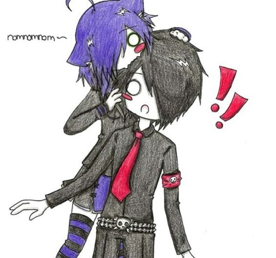 Anime Emo Couple Drawings emo pictures on pinterest emo, emo art and ...