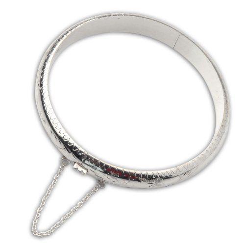 Amazon.com: Anniversary Gift Fine Jewelry Sterling Silver Bangle Jewelry 2.3 Inches: ShalinCraft: Jewelry