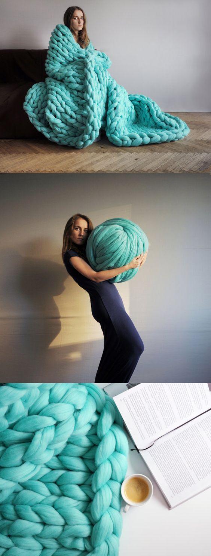DIY Arm knitting merino wool. 3 inch stitch. by Ohhio on Etsy: