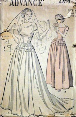 vintage wedding dress pattern - My &quot-Sew In Love&quot- Bridal Shower ...