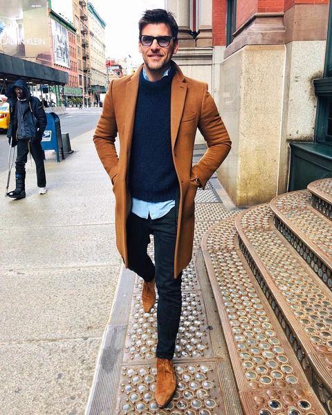 コート メンズ 茶色