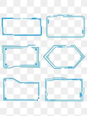 Minimalistic Line Blue Futuristic Technology Border Box Dialog Element Technology Border Blue Future Sense Png Transparent Clipart Image And Psd File For Fre Marcos Para Texto Fuente De Letras Dibujos Faciles