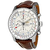 Breitling Navitimer World Silver Dial Automatic Men's Wat...