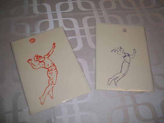 Carte de voeux  volley ball de plage homme et par IsabelleDionne1