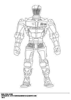 zeus real steel coloring pages | Real steel Coloring page. Atom , Zeus and noisy boy to ...