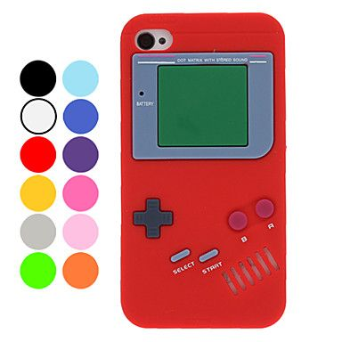 Único Retro Gamepad Estilo Silicone Soft Case para iPhone 4/4S (opcional Cores) – BRL R$ 7,89